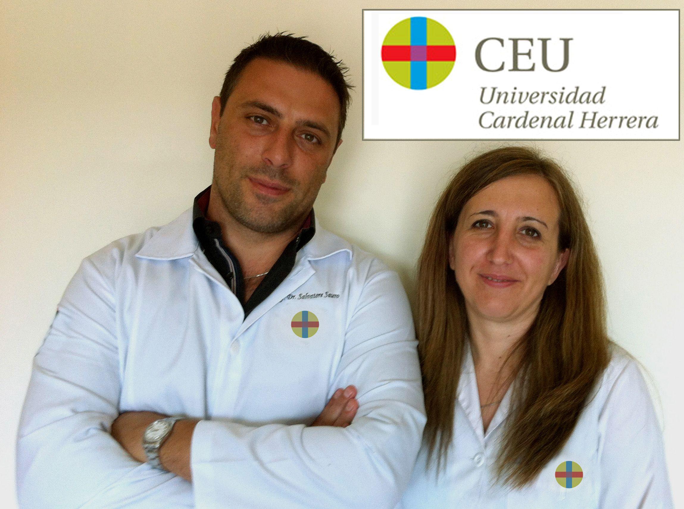 Los doctores de la CEU-UCH Sauro y Luzi, miembros del equipo internacional de investigación en Odontología.