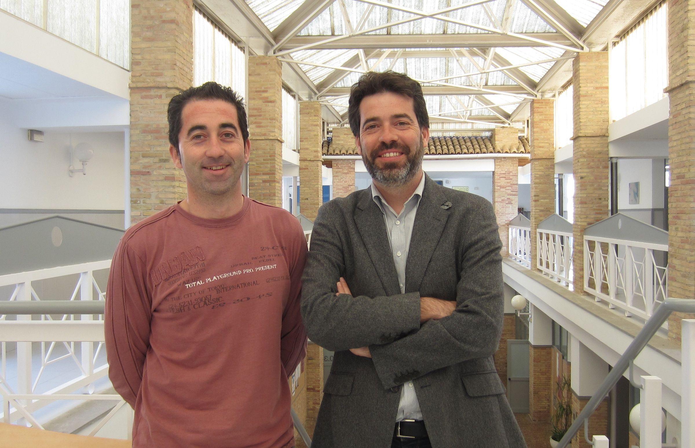 Nicolás Montes y Fernando Sánchez, investigadores de Ingeniería de la CEU-UCH.