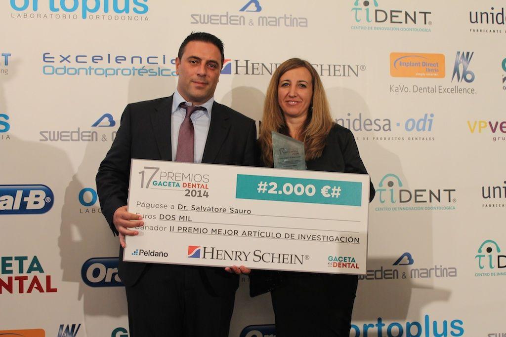 Los profesores de Odontología Salvatore Sauro y Arlinda Luzi, Premio I+D+i de Gaceta Dental.