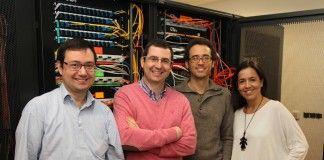 Los profesores del Grado en Ingeniería Informática de Sistemas de Información de la CEU-UCH Javier Muñoz, Francisco Zamora, Juan Pardo y Paloma Botella.