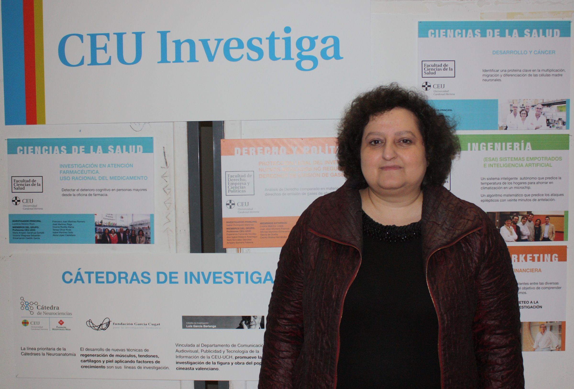 María Auxiliadora Dea, profesora del Grado de Farmacia de la CEU-UCH.