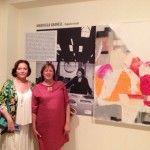 Marusela Granell y Amparo Carbonell en la inauguración de la exposición.