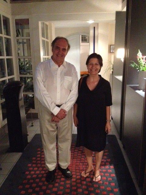 Susana Sanz, con el juez de la Corte Internacional de Justicia Cançado Trindade.