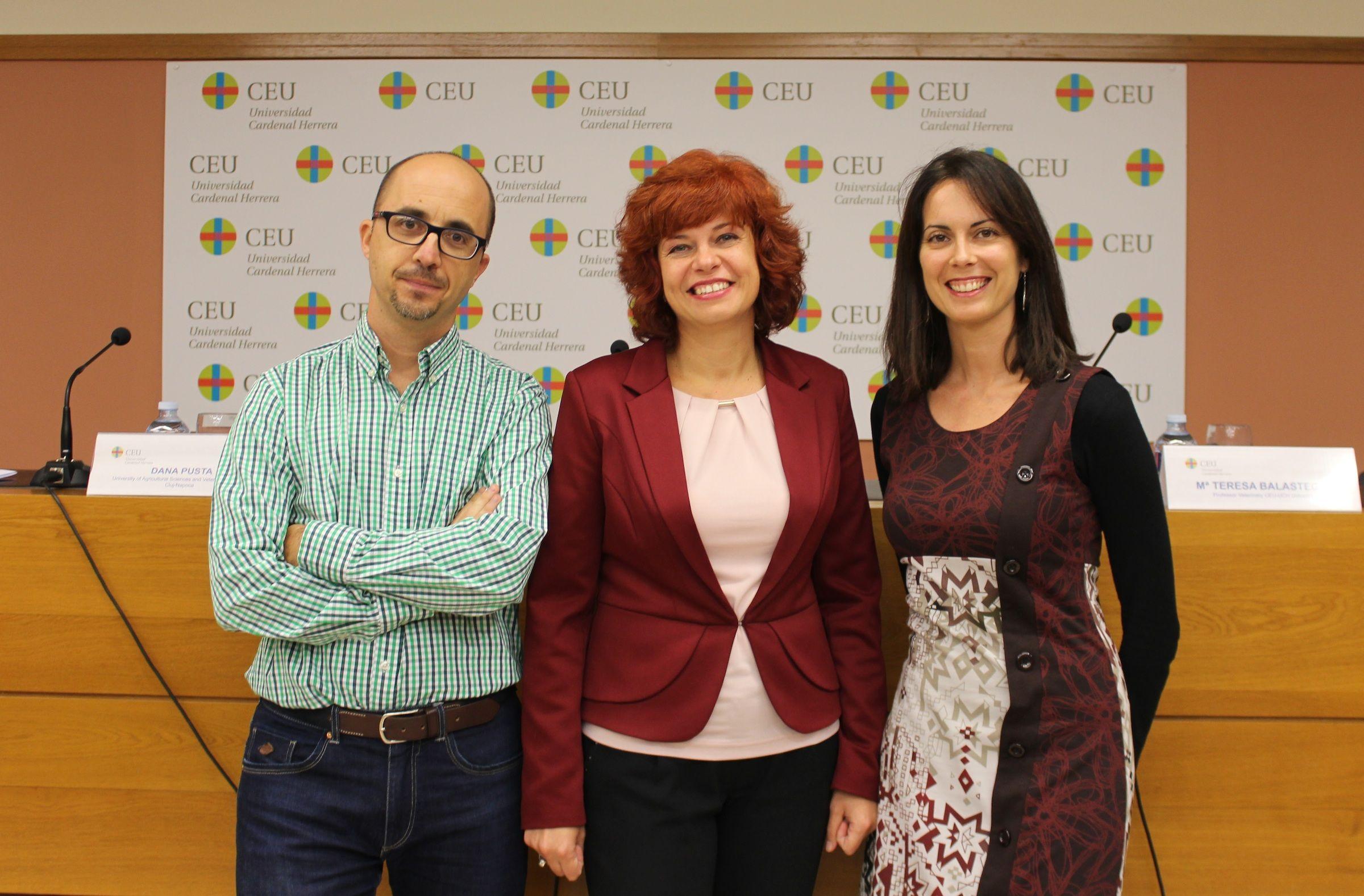 Enric Poch, Dana Pusta y Maite Balastegui, en CEU Descubre.