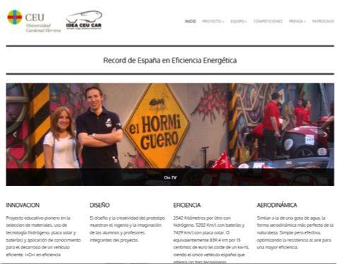 Web del proyecto IDEA CEU Car.