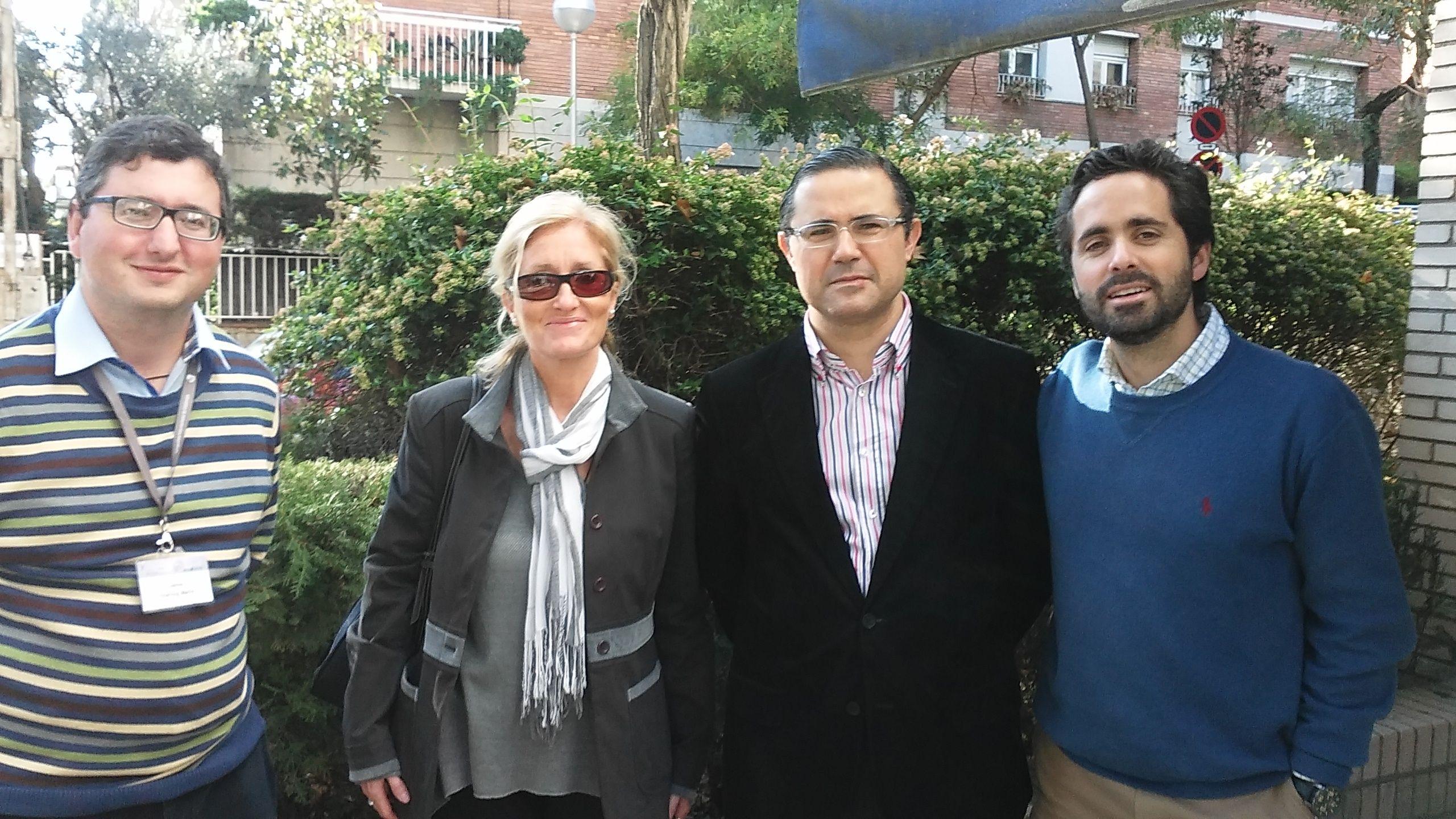 Los profesores de la CEU-UCH Jaime Vilarroig, María José Cano, Emilio García Sánchez y Juan Martínez Otero, en el X Congreso de la AEBI.