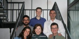 En la imagen, los miembros del equipo investigador: en la fila superior, Ausias Cebolla, Gonzalo Palomar y Juan Francisco Lisón; en la fila inferior Marinna Mensorio, Rosa Baños y Enrique Rodilla.