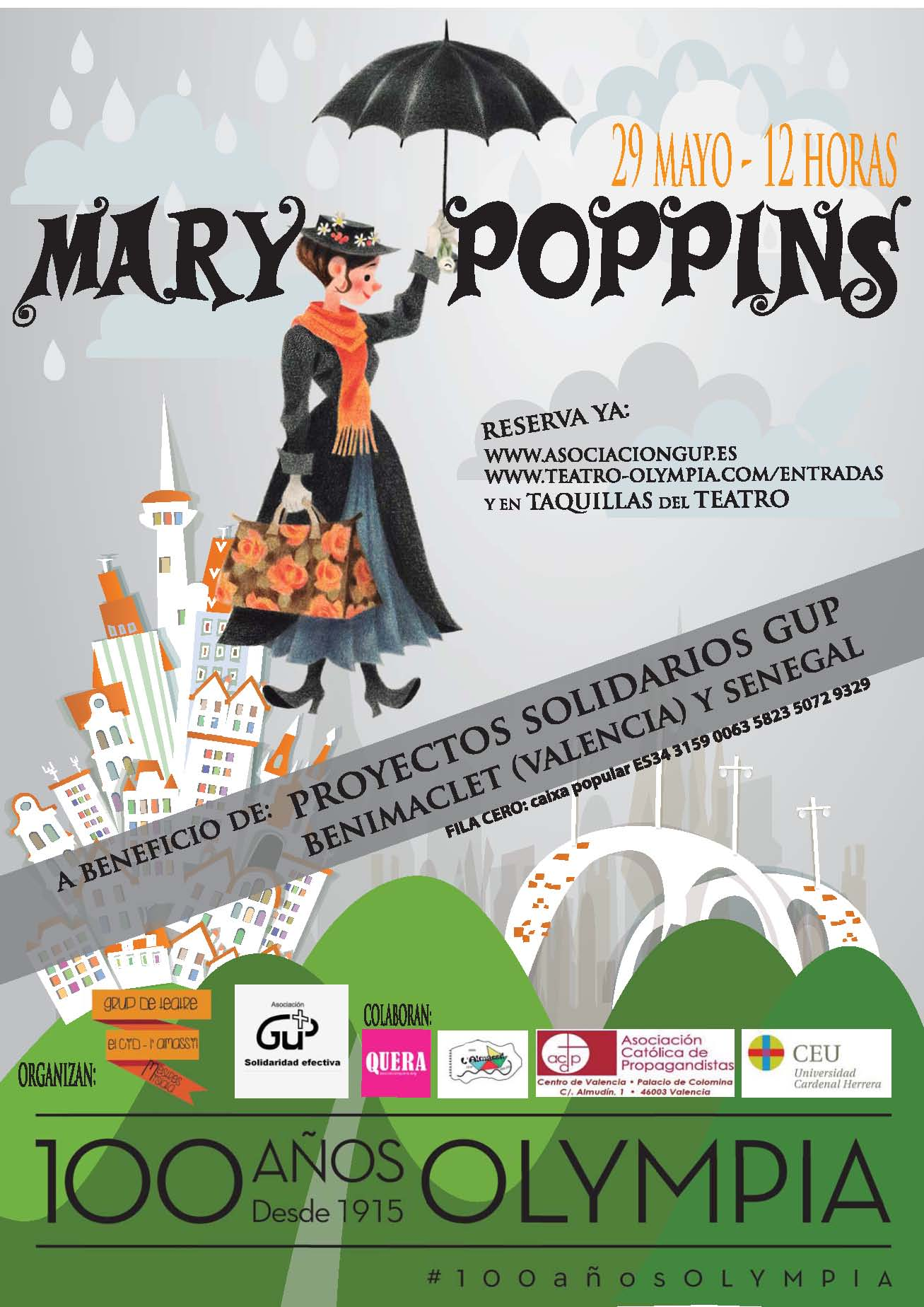 """La CEU-UCH colabora con el musical solidario """"Mary Poppins"""", a ..."""