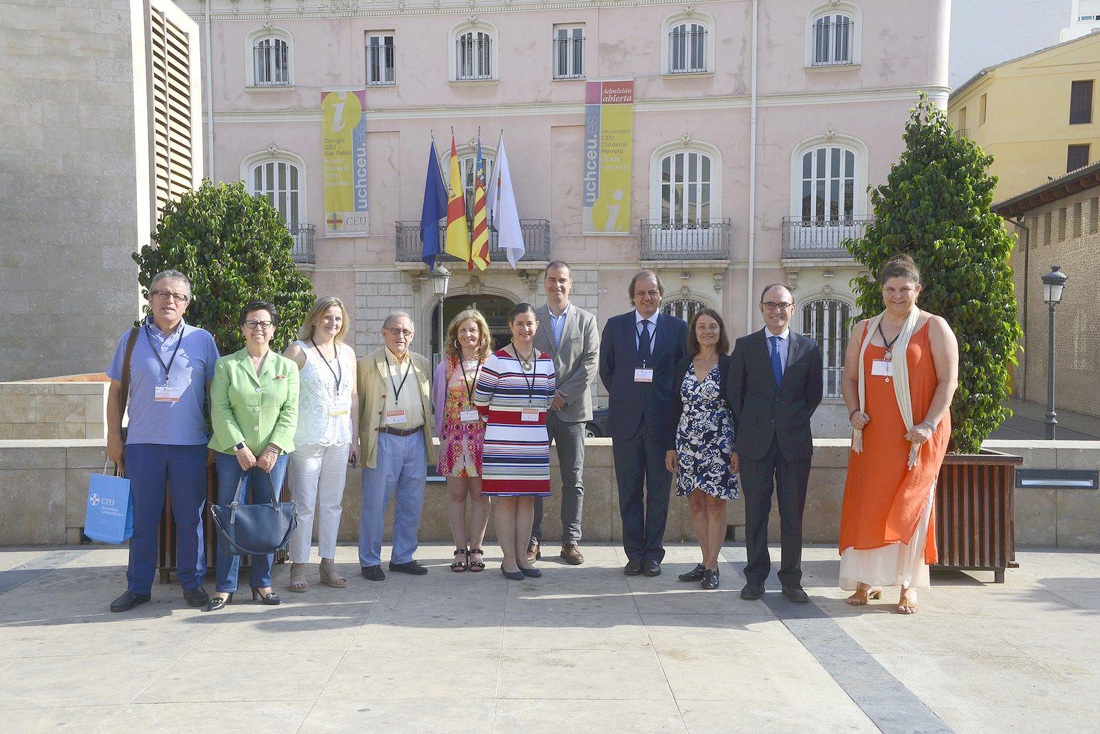 El comité científico de la Pre-conference de la IAMCR celebrada hoy en Valencia.