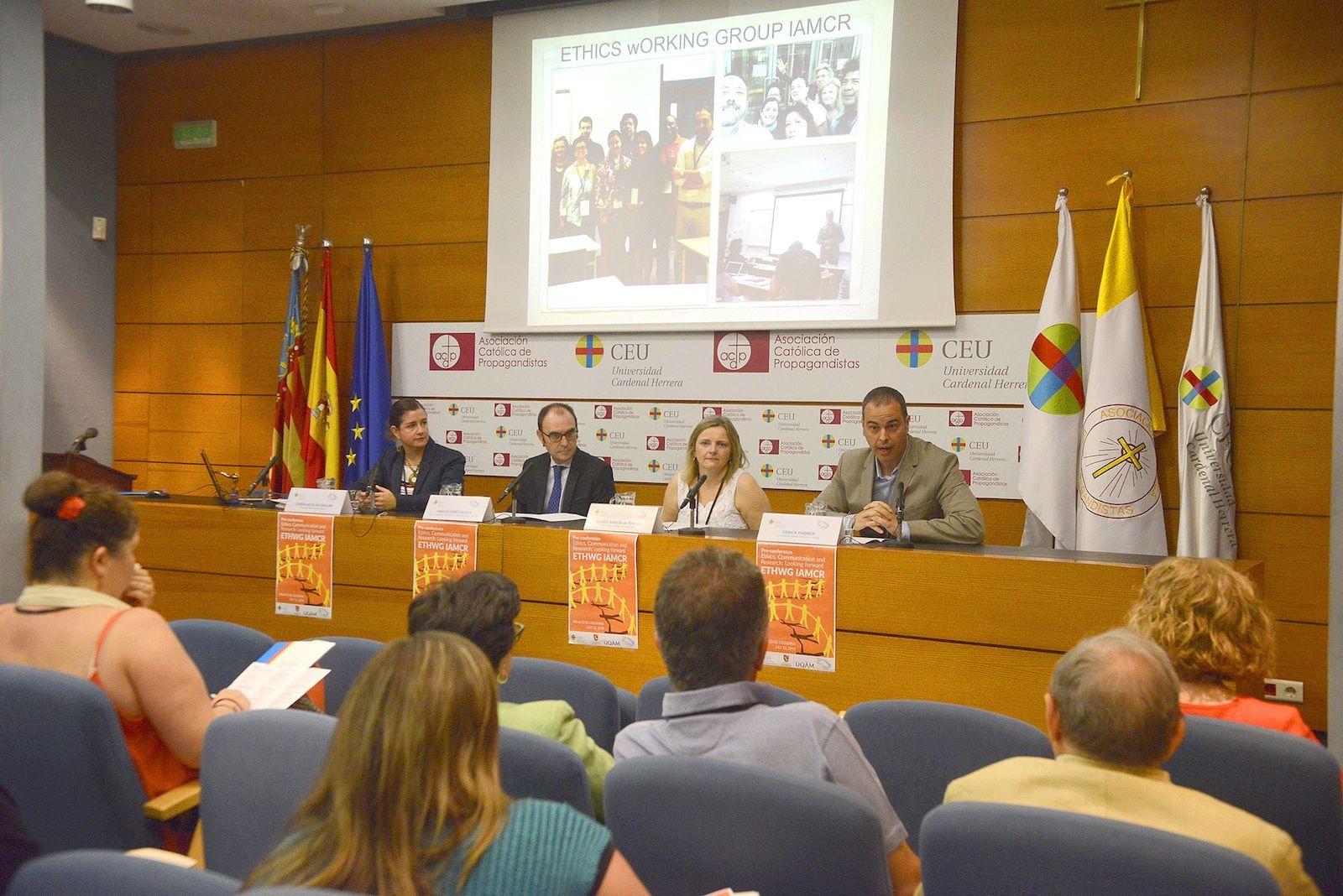 Inauguración de la Pre-conference del Grupo de Ética y Comunicación de la IAMCR.