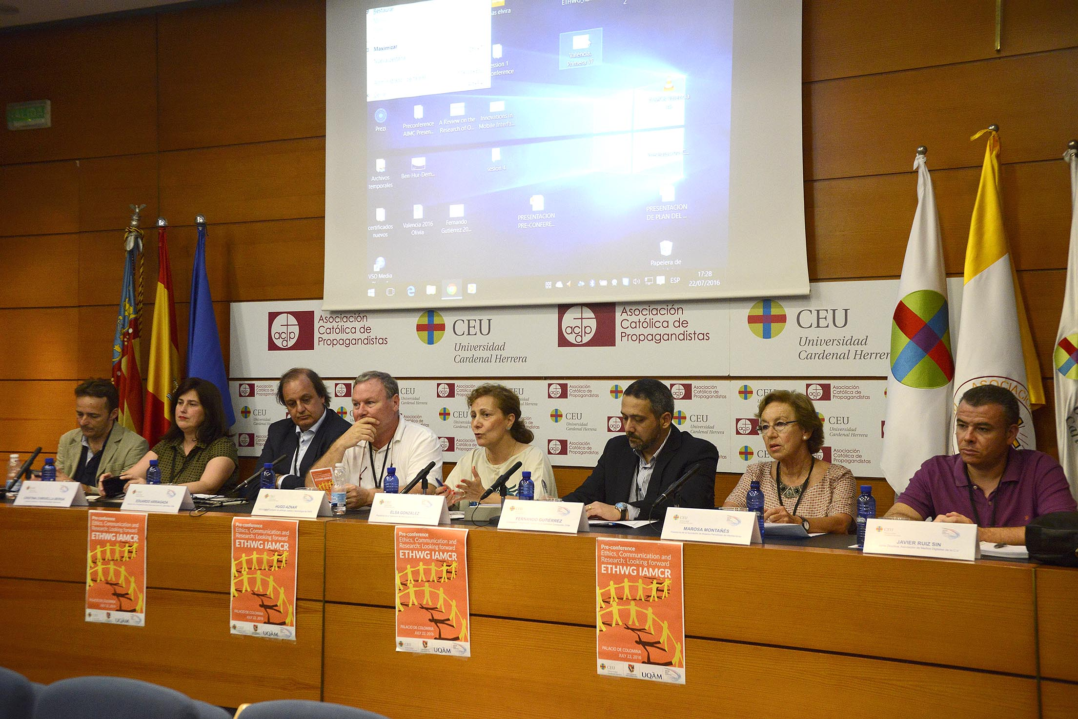 Representantes de cinco asociaciones de periodistas han participado en el Foro Abierto sobre Ética y Comunicación en la CEU-UCH.