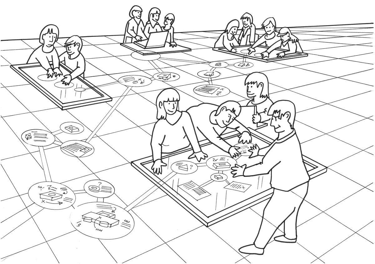Esta 'tabletop' o superficie digital con elementos de interacción tangibles, permite crear espacios docentes de aprendizaje colaborativo.
