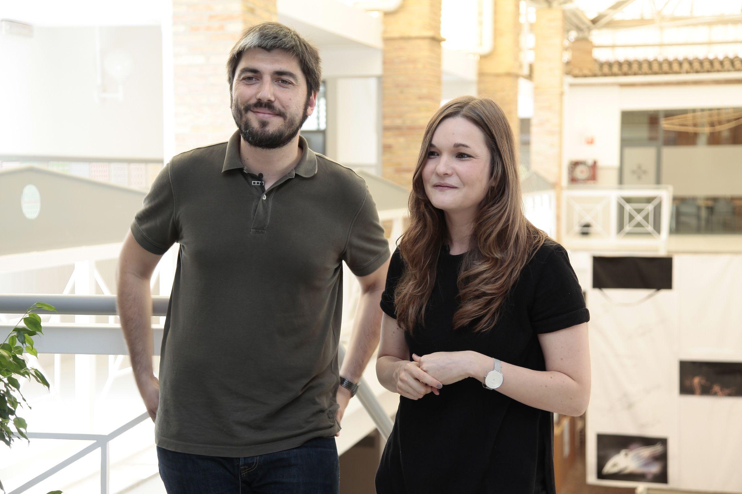 José Aranda y Paula Aloy, fundadores de Enblanc y antiguos alumnos de Diseño de la CEU-UCH.