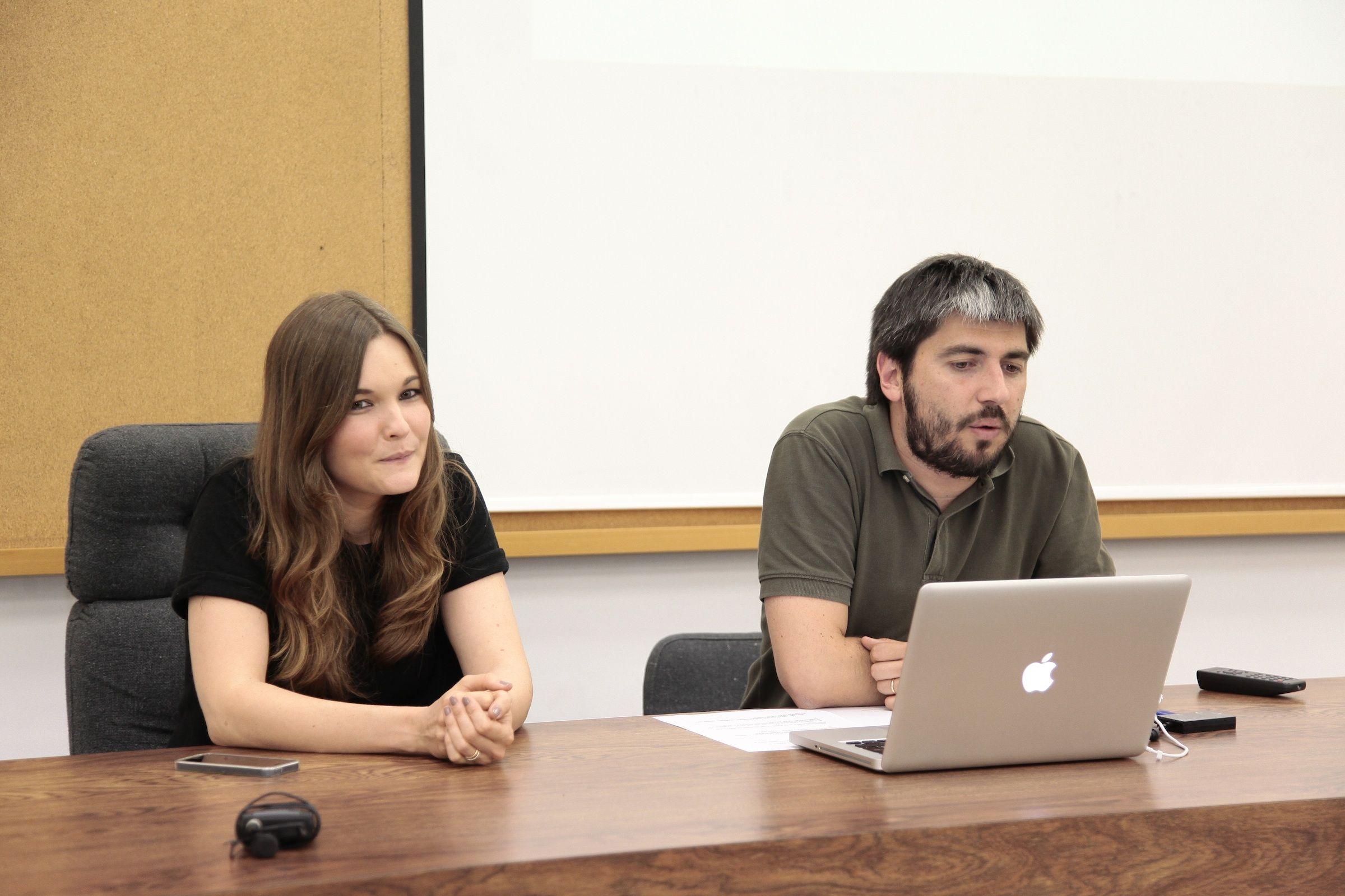 Los fundadores de Enblanc, en la CEU-UCH.