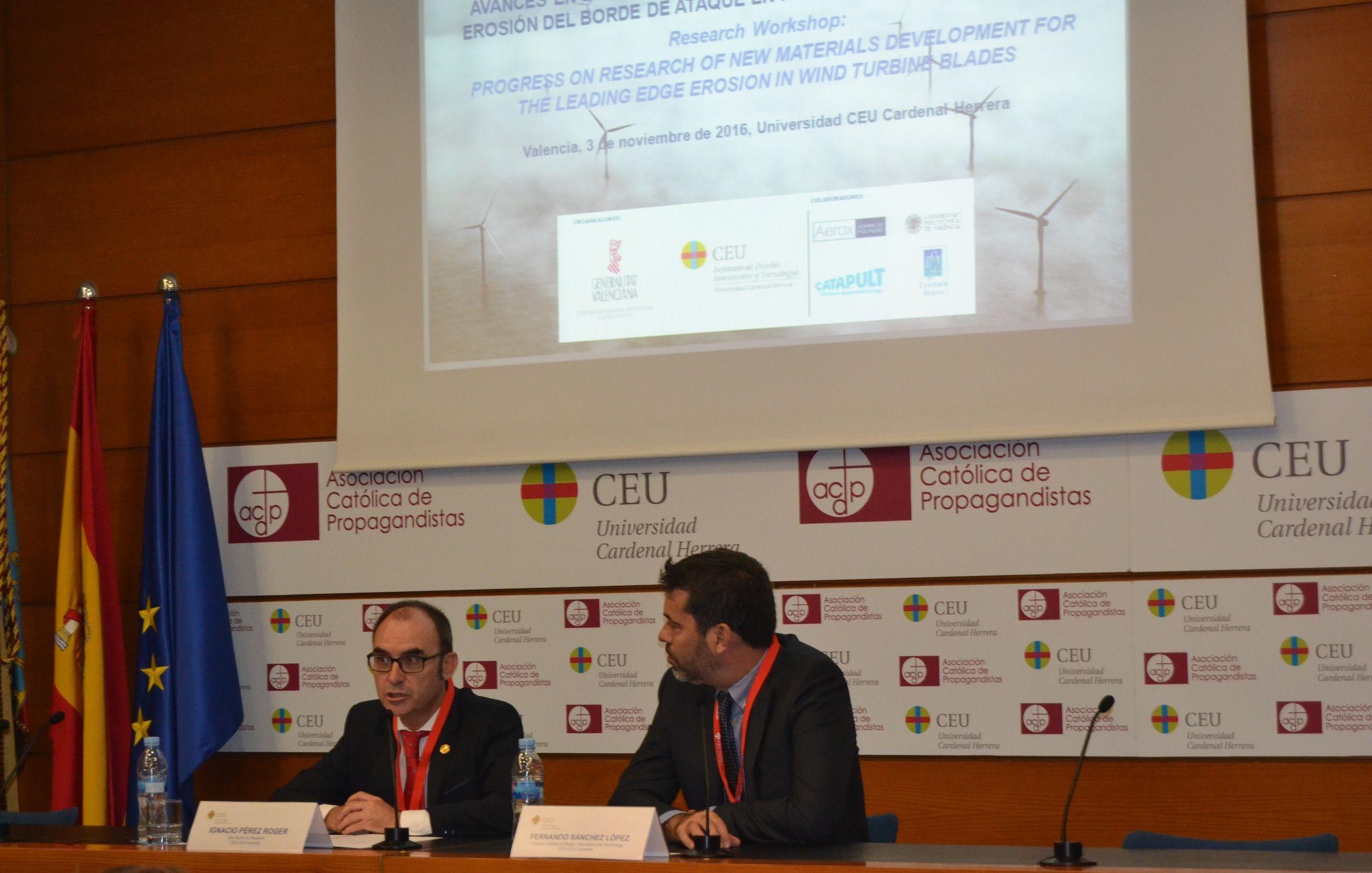 El vicerrector de Investigación de la CEU-UCH, Ignacio Pérez, y el director del IDIT-CEU, Fernando Sánchez.