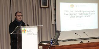 El vicerrector de Investigación del CEU-UCH, Ignacio Pérez Roger, en la presentación de la sesión informativa sobre el Programa H2020.