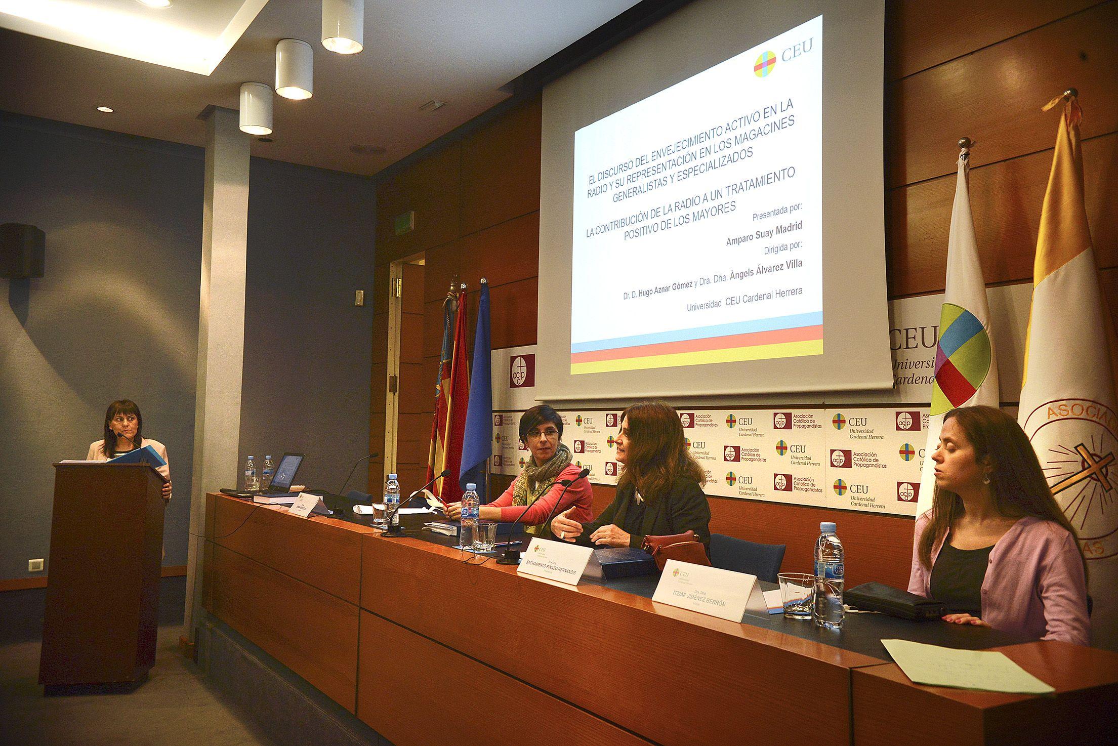 Defensa de la tesis doctoral de Amparo Suay, en el Palacio de Colomina-CEU.