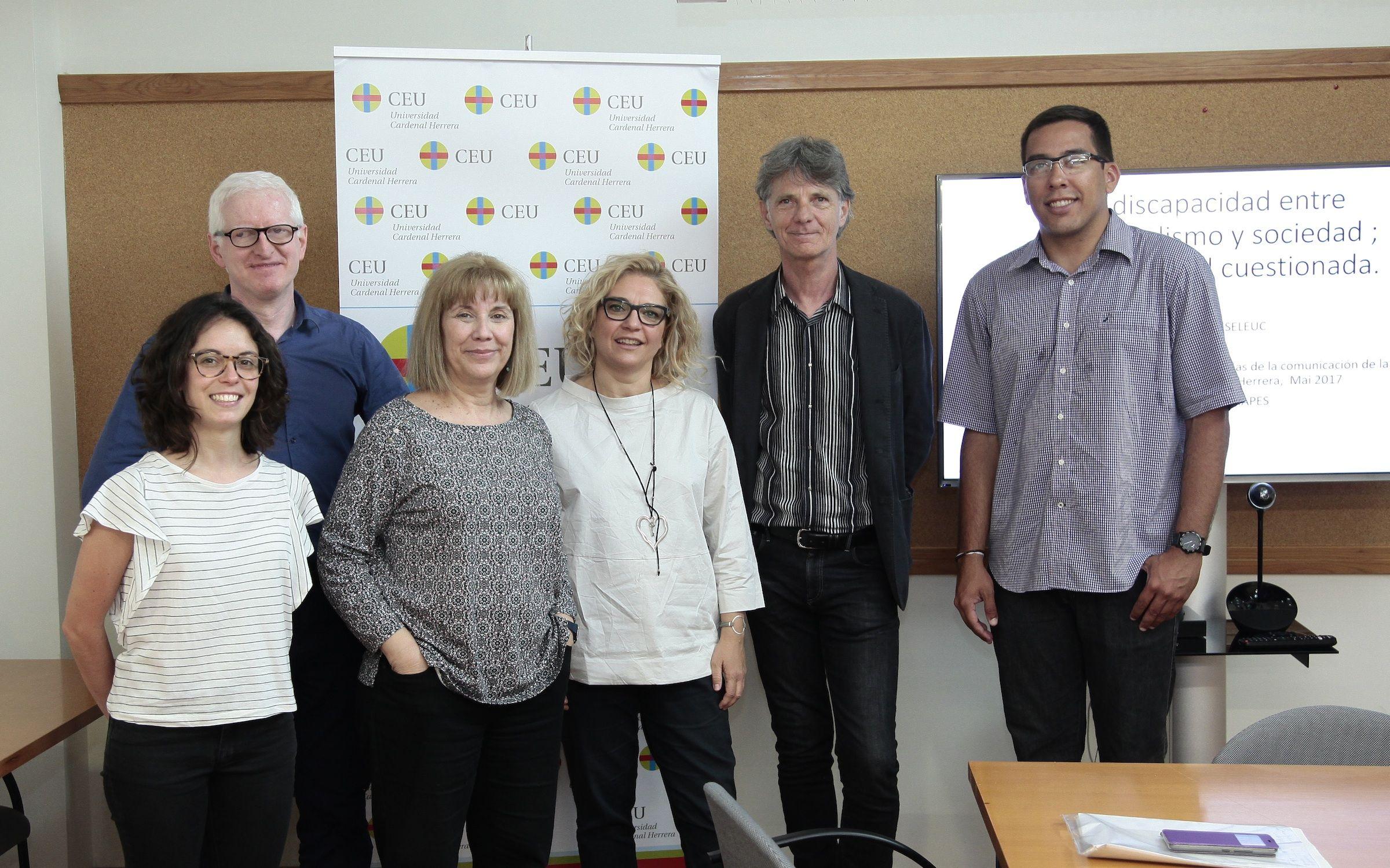 Investigadores del GIDYC y ponentes invitados de Francia, Colombia y Brasilm en el Seminario Internacional Sociedad, Discapacidad y Deporte del CEU-UCH.