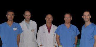 En el centro, el doctor Piquer junto a los investigadores de la Cátedra de Neurociencias CEU-NISA y el Hospital de la Ribera autores del estudio premiado por la SENEC.