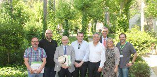 Miembros del GEEFSM y del CEU-UCH, en el encuentro de investigadores celebrado en Cofrentes. Foto: ICOVV.