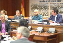 El director valenciano Miguel Ángel Font, formado en Comunicación Audiovisual en el CEU-UCH, durante su comparecencia ayer en el Senado.
