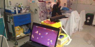 Imagen del juego de realidad virtual testado por investigadores del CEU-UCH en pacientes de la Unidad de Hemodiálisis del Hospital de Manises.
