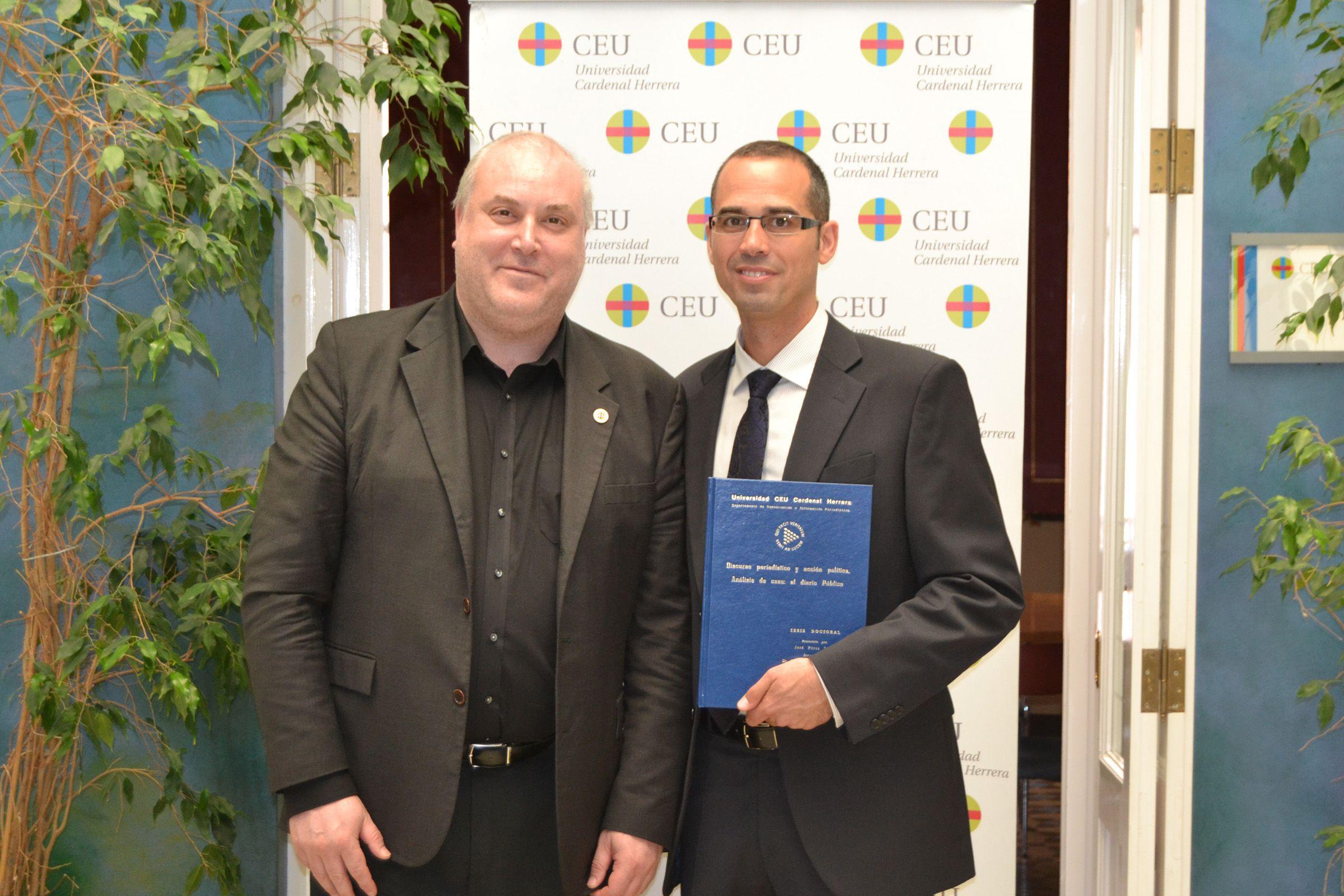 El vicedecano de Comunicación Audiovisual del CEU-UCH Juan José Bas ha dirigido la tesis doctoral de José Pérez Suria.
