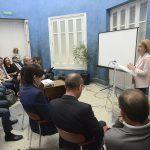 La rectora de la CEU UCH, Rosa Visiedo, en la presentación de la Cátedra ESI-CEU.