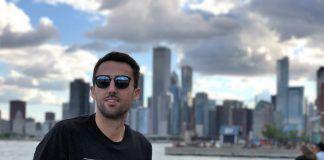 El arquitecto formado en la CEU UCH Juan José Canós, que desarrolla proyectos para Porcelanosa USA, este verano en Chicago.
