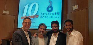 El profesor de la CEU UCH Jose Miguel Soria, investigador principal del proyecto, Xavier Cortés, del Hospital de Sagunto, Ausiàs Cebolla, de la Universidad de Valencia, y Rafael González, de la CEU UCH en Castellón.