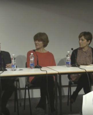 La profesora Ana Ábalos, durante la mesa redonda celebrada en la Architectural Association de Londres.