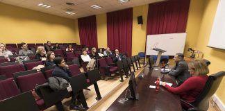 El profesor García Sánchez, invitado en la Universidad de Murcia. Foto: UMU.