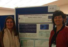 Las profesoras Isabel Aleixandre y Paula Sánchez, en el Congreso de la SEMTSI.