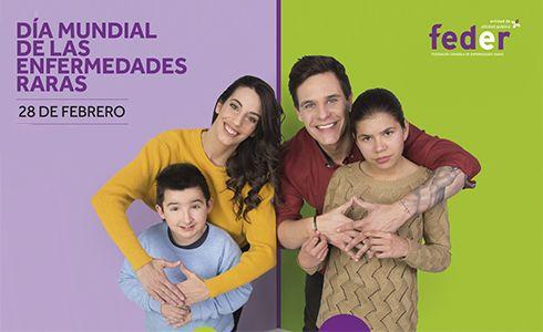 Cartel de FEDER para el Día Mundial de las Enfermedades Raras 2018.
