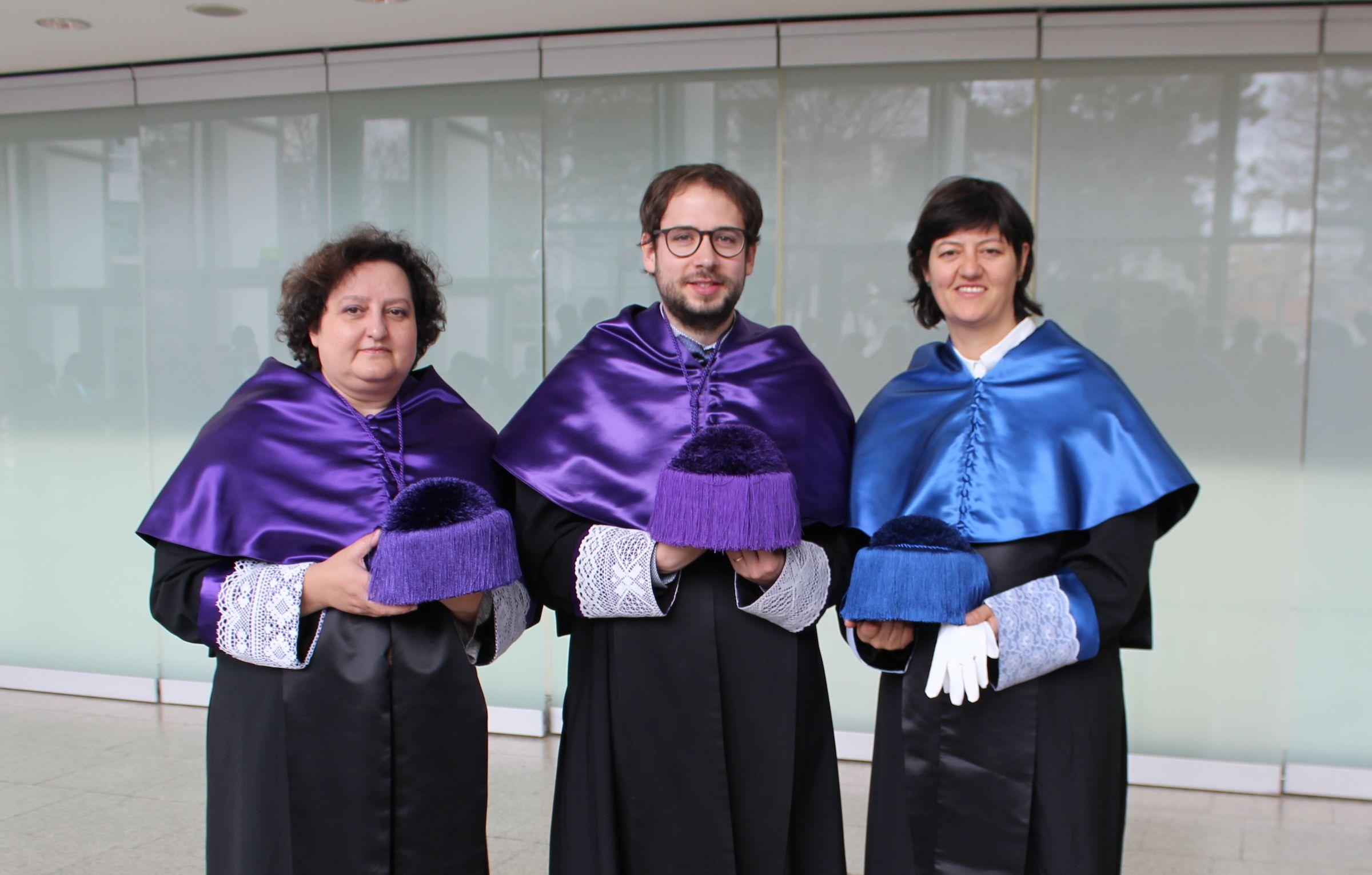 Los investigadores de la CEU UCH María Auxiliadora Dea, Manuel Adell y Paula Sánchez Thevenet.