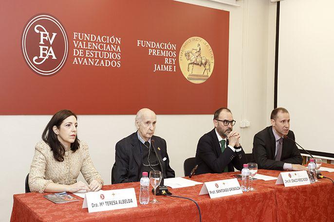 María Teresa Albelda, Santiago Grisolía, Ignacio Pérez y Juan Carlos Frías, en la inauguración de la Jornada.