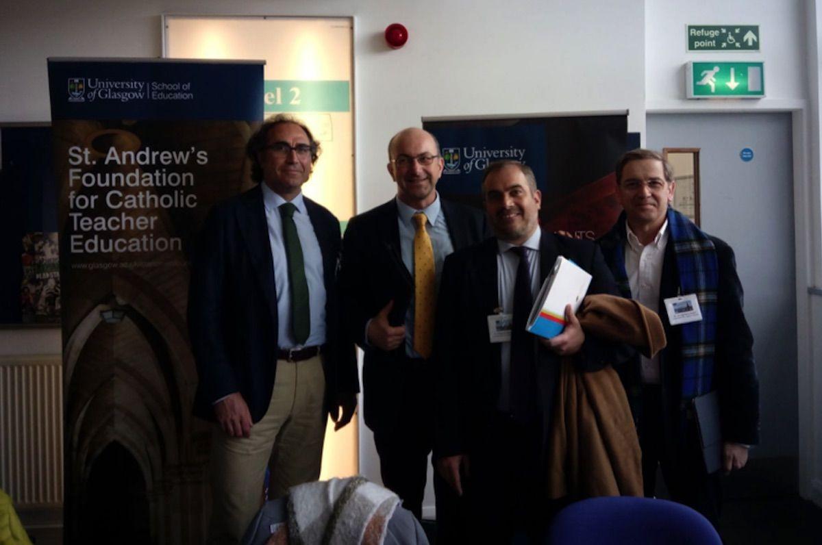 Acreditación de los profesores de la UC CEU con el doctor Leonardo Franchi, organizador del Congreso ACISE 2018.
