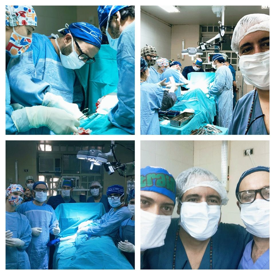 Trabajando con los investigadores del Servicio de Anestesiología del Hospital Escuela de la Facultad de Ciencias Veterinarias de la UBA.