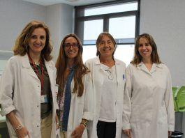 Mari Carmen López Mendoza, Marta Lozano, Sandra Fernández y Dolores Silvestre, miembros del Grupo de investigación en leche humana, de la CEU UCH.