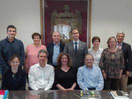 Juan Manuel Corpa, con los miembros del nuevo comité ejecutivo de la Unión de Entidades Españolas de Ciencia Animal. FOTO: UEECA.