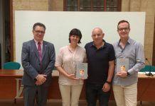 José Vicente Ramón, gerente de la Fundación Dávalos-Fletcher, editora del libro, junto a tres de los investigadores autores del estudio: Paula Sánchez, Pasqual Gregori y Javier Orenga.