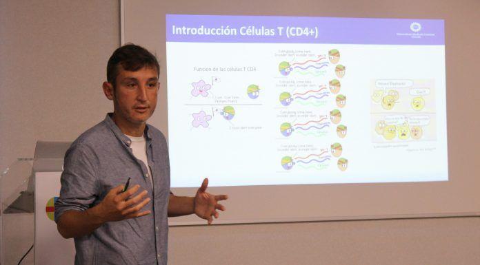 Enric Mocholí, alumni CEU UCH, en el ciclo CEU Descubre, donde ha presentado los resultados más recientes de su trayectoria investigadora.