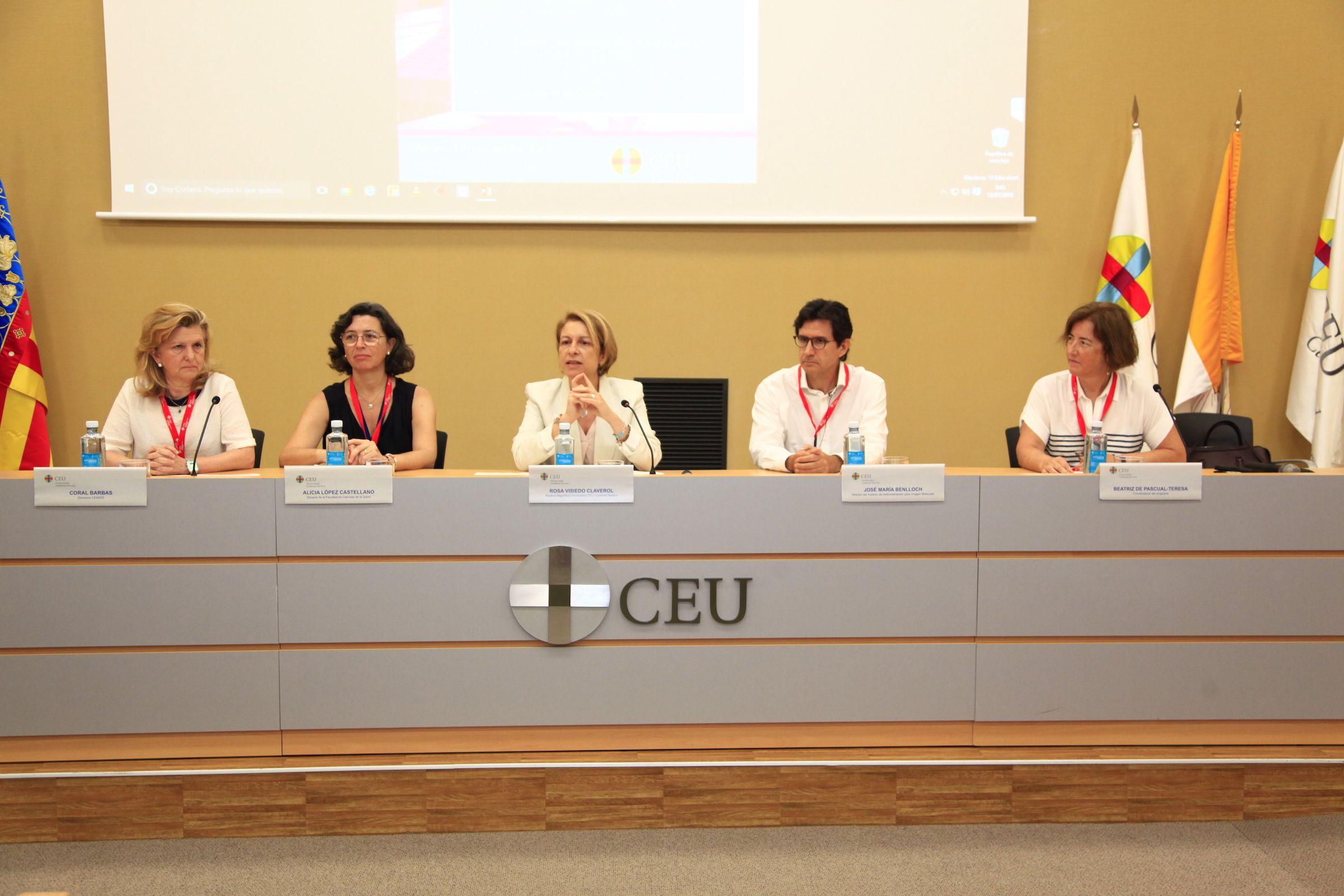 Coral Barbas, Alicia López, Rosa Visiedo, José María Benlloch y Beatriz de Pascual-Teresa, en la inauguración de las Jornadas.