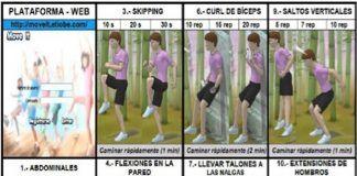 Imagen de la plataforma web Move It, diseñada por el equipo investigador para favorecer el ejercicio físico en casa de niños y adolescentes con obesidad y sobrepeso.