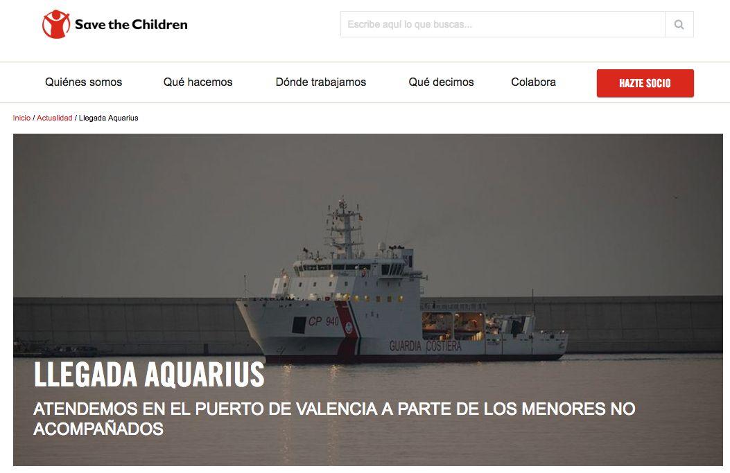 Fte: Web de Save the children Valencia.