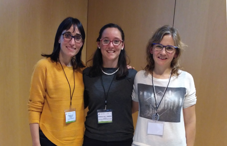 Las investigadoras Anna Junqué, del Hospital de Terrasa, Lucía Ortega, doctora por la CEU UCH, y Eva Segura, investigadora principal del grupo.