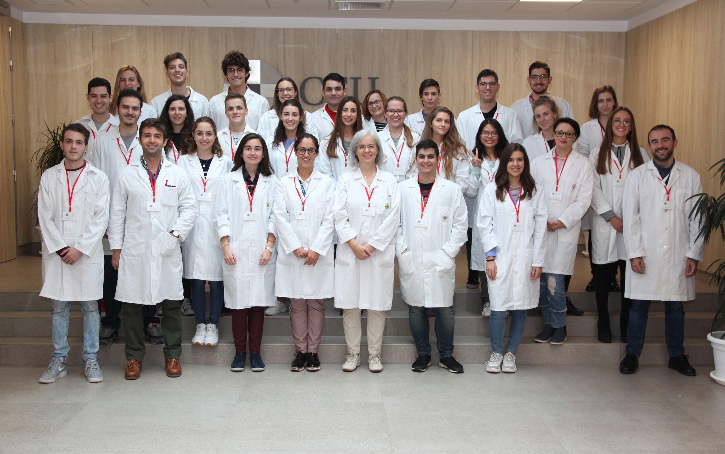 Profesores y estudiantes del equipo SWI@CEU de la CEU UCH, del curso 2018-19.