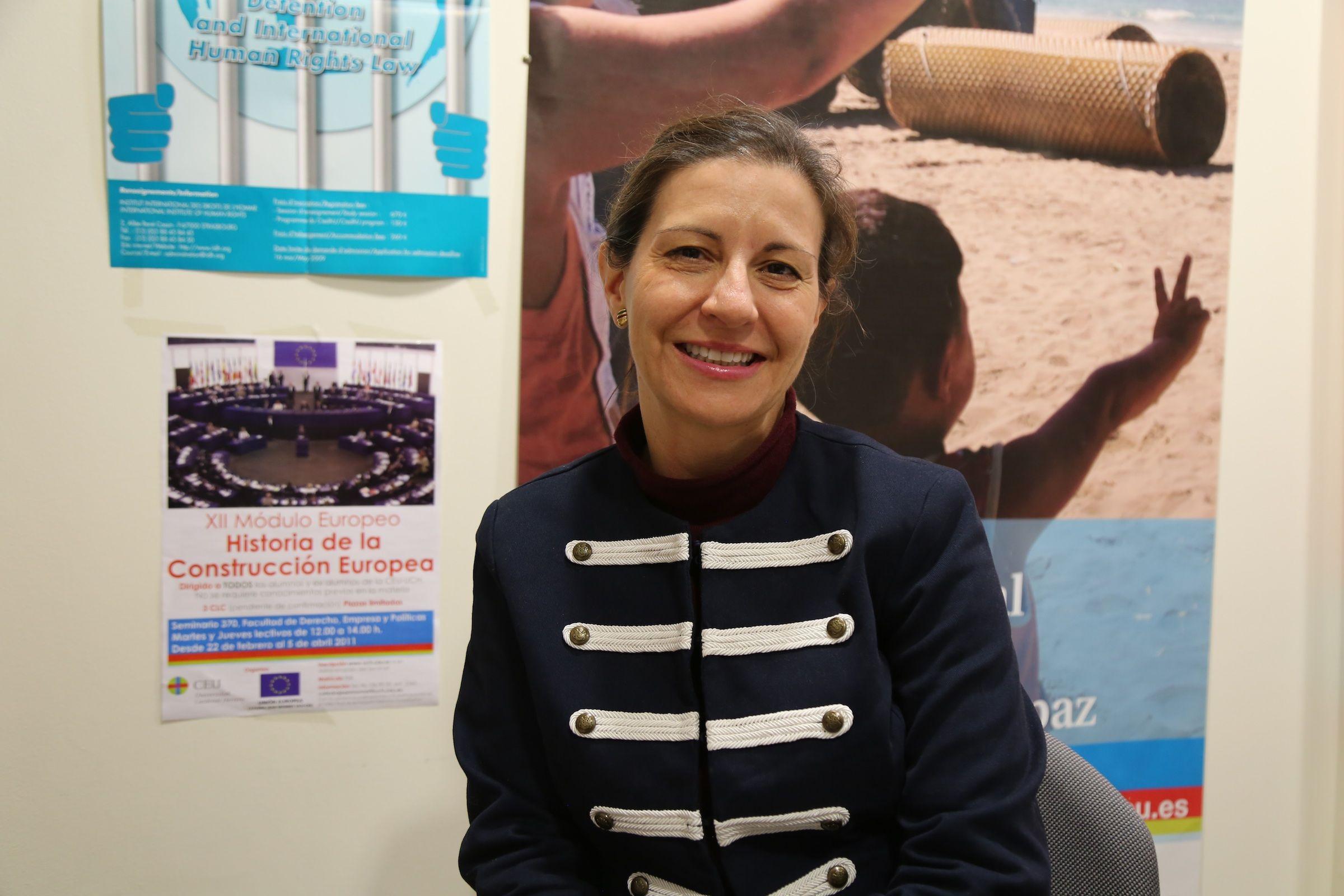 La catedrática de Derecho Internacional de la CEU UCH, Susana Sanz Caballero, titular de la Cátedra Jean Monnet sobre la Europa de los valores y los Derechos Humanos.