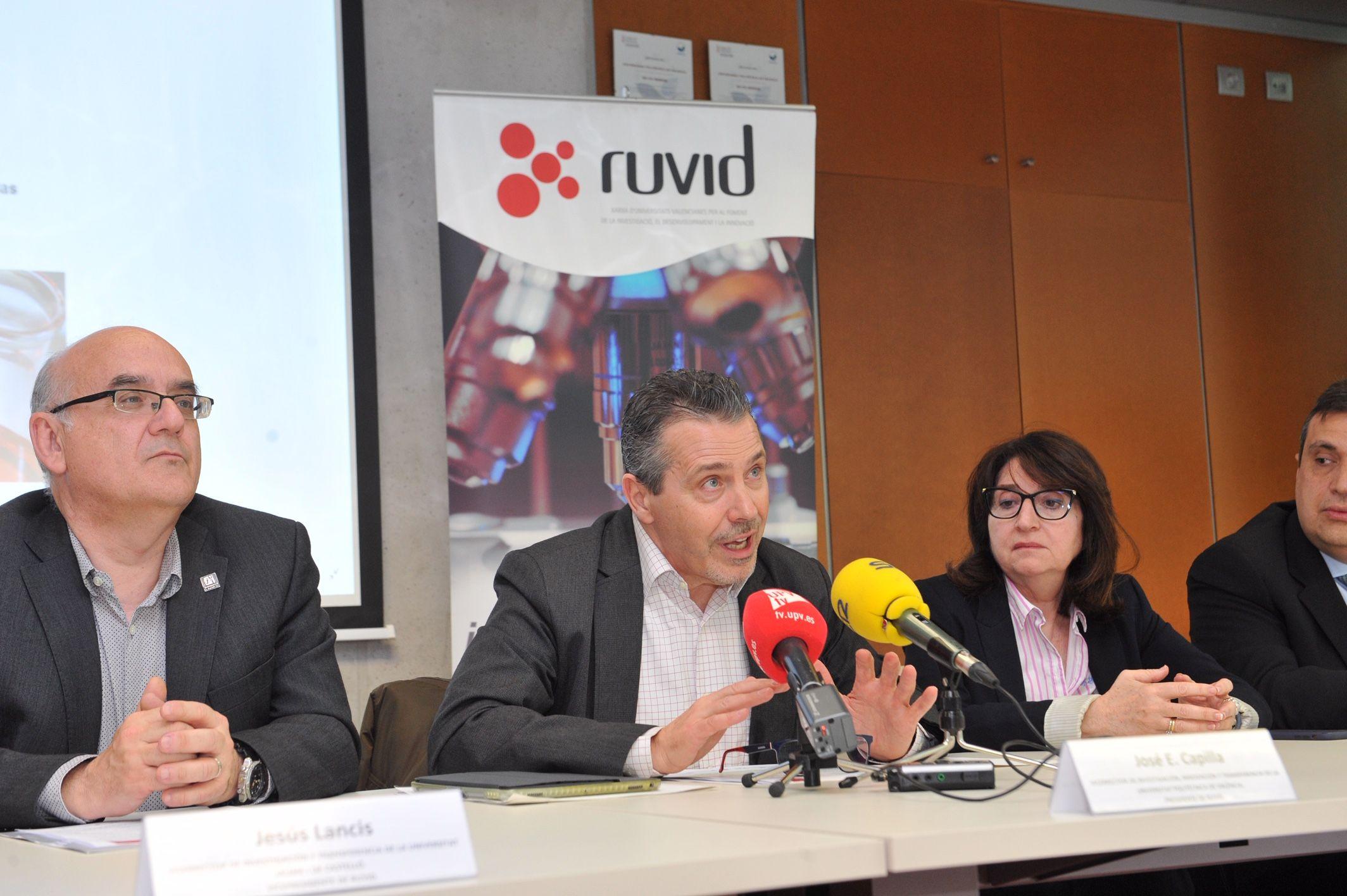 Presentación del documento sobre la I+D valenciana de RUVID. Foto: UPV.