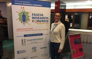 La profesora María Dolores Arguisuelas, en el Fascia Research Congress de Berlín.